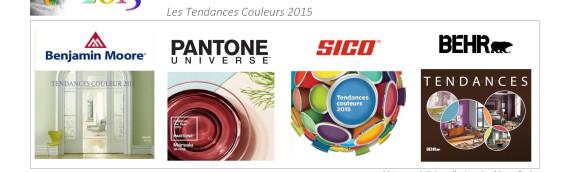 Tendances couleurs 2015 & Ambiances décor
