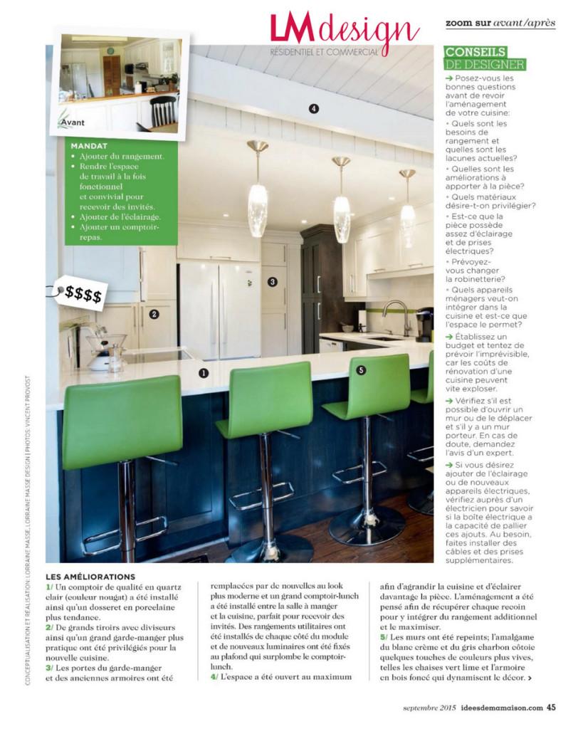 avant apres cuisine magazine idees de ma maison lm design interieur lorraine masse lorraine. Black Bedroom Furniture Sets. Home Design Ideas